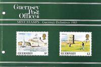 GUERNSEY PRESENTATION PACK MNH 1985 GUERNSEY DEFINITIVES DEFINITIVE VIEWS SET