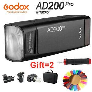 Godox AD200Pro AD200 Pro 2.4G TTL 1/8000 HSS Outdoor Wireless Flash Speed Lite