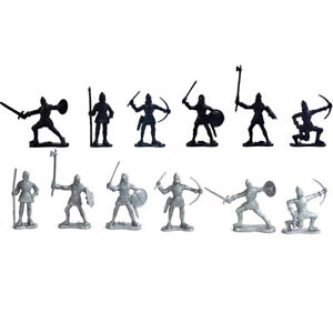 Playset Medieval Knights Soldier Model Toy Knights Figure Models Soldier Toy