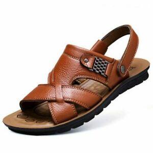 Men Leather Sandals Classic Men Shoes Slippers Soft Sandals Men Comfortable Shoe