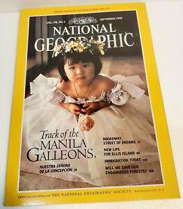 Vintage National Geographic 1990 September ELLIS ISLAND + Folded Map