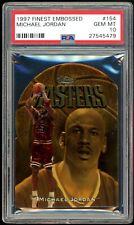 Michael Jordan 1997-98 Topps Finest Gold Embossed Die-Cut #154 PSA 10 Gem Mint