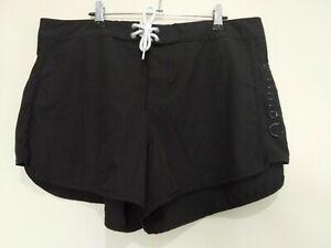 Mambo Black Swim Shorts Activewear Shorts Size 16
