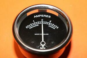"""REPLICA LUCAS 6V 2"""" AMMETER WITH BACK CLAMP TRIUMPH NACELLE UK MADE"""