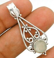 Natural Aventurine 925 Solid Sterling Silver Pendant Jewelry ED18-9