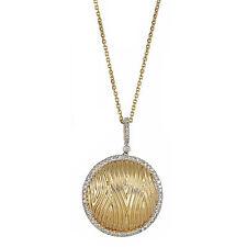 14K Yellow Gold Center & Dazzling Top Bail with VS2 Diamonds Surrounding Pendant
