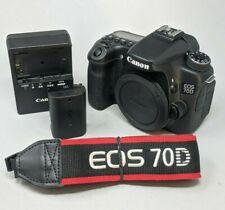 Canon EOS 70D 20.2MP Digital SLR Camera - Black (Body Only) - 8,830 Clicks!