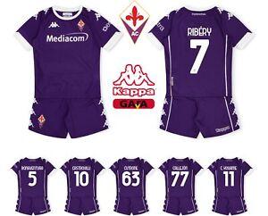 Set Child Fiorentina 2020/21 Kappa Shirt Ribery Castrovilli Kouame Cutro