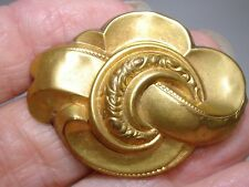 Antique Victorian 1860'S Hollow Rich Gold Gilded Over Silver Pin!