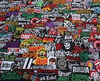 Promotion 50 Iron On Patch RANDOM Music Rock Band Metal Punk toppe toppa Sew