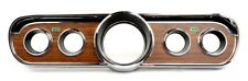 NEW 1965 1966 Mustang Metal Backed Woodgrain INSTRUMENT BEZEL Wood Deluxe Pony