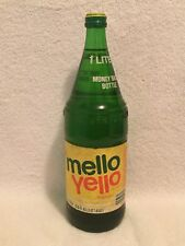 RARE FULL 1 LITER MELLO YELLO PAPER LABEL SODA BOTTLE COCA-COLA PRODUCT