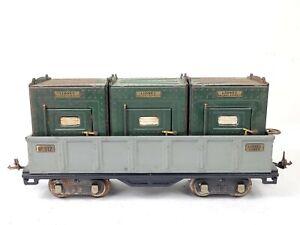 Lionel 512 Gondola & 3x 205 Merchandise Container Load Standard Gauge ORIGINAL