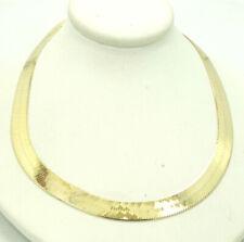 14K Yellow Gold Herringbone Necklace 18 Inch 6.5mm 18.1 Grams M1484