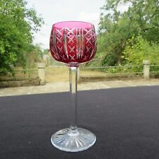 verre roemer en cristal de saint louis modèle riesling de couleur rouge H 18,4