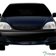 Topline For 2002 2005 Civic Si Ep3 Hatchback T R Mesh Front Bumper Grille Black Fits 2004 Honda Civic
