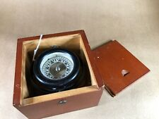 Nautical Gimballed Compass Wilcox Crittenden Wood Box With Dovetail Lid