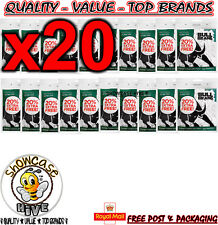 20 x BULL BRAND 300 MENTHOL FILTER TIPS SMOKING CIGARETTE ROLLING RESEALABLE BAG