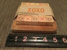 XOXO Strategical Game for kids and adults. Wooden Blocks Never Opened!