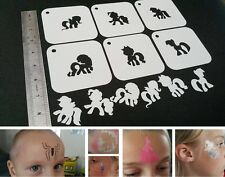 Adatta per bambini Face Painting Little Pony Set di 6pcs Stencil disegnare Party