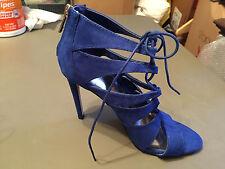 Madden Girl Raceyyy Ghillie Dress Sandals, Cobalt, 7.5M MSRP $59