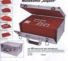 """SAFE 273 Münzkoffer """"Gigant"""" mit 15 Tableaus für über 500 Münzen NEU"""