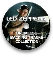 LED ZEPPELIN MP3 ROCK DRUMLESS DRUMS BACKING TRACKS COLLECTION ON CD