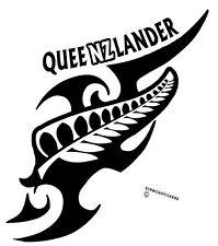 AOTEAROA NEW ZEALAND KIWI FERN QUEENZLANDER TRIBAL QUEENSLAND STICKER WHITE #2