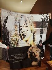Marilyn Monroe Shower Curtain, Bath Mat and Pillow Cover. Never Used