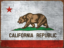 California State Flag Metal Sign, Americana, Rustic Decor, Home Accent