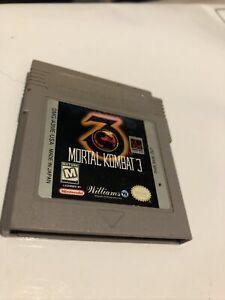 GB GAMEBOY MORTAL KOMBAT 3 Japan AUS  PAL Free Express Postage Game Nintendo