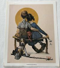 """1972 Norman Rockwell Offset Lithograph - Published by Curtis Publishing 10"""" x 8"""""""