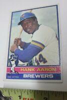1976 Topps Set Break # 550 Hank Aaron Baseball Card 76 Milwaukee Brewers DH