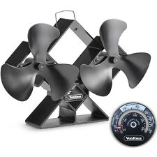 VonHaus Double Stove Fan - Twin Blades for Increased Circulation - 6 Blade