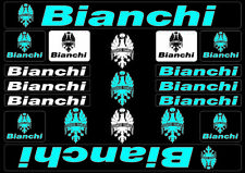 Bianchi Bike Bicycle Frame Decals Stickers Graphic Adhesive Set Vinyl Blue