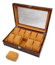Polmart Premium Wood Watch Case Display and Storage Organization (10 Slot)