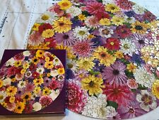 Flower Frenzy vintage round puzzle Current 1000