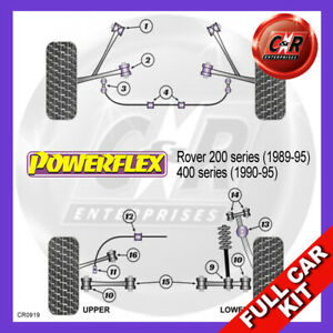 Rover 400 (90-95) 19mm Fr Casquillos Arb , RR Powerflex Completo Juego Cojinete