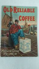 antique 1911 Old Reliable Coffee Mother Goose Primer paper booklet /pamplet