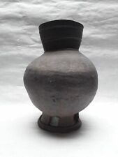 Korean Silla Stoneware Tall incised pot