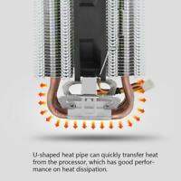 LED CPU Cooler Fan Heatsink 6 Heatpipe Radiator For Intel LGA 1156/1155/1150/775