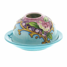 FLORAL DESIGN TEA LIGHT CANDLE HOLDER  BY OLD TUPTON WARE.NEW.CRAZY CLEARANCE