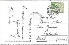 TRAINS : Switzerland -  POSTAL HISTORY:  Stamp on POSTCARD to  ITALY 1957