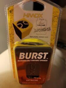 HMDX HX-P130YL Burst Rechargeable Portable Speaker 3.5mm Jack Yellow Small Mini