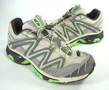 SALOMON WOMEN'S XT WINGS 2 RUNNING SHOE LT GREY/AUTOBAHN/LIZARD GREEN US SZ 10 M