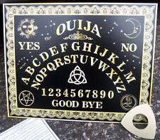 Original Black and Gold Ouija Board, Spirit Board + Gold Planchette  **2 SIZES**