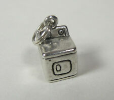 Clothes Dryer Charm Pendant .925 Sterling Silver USA Made Appliance Washing