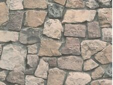 REALISTIC DRY STONE STONES BRICK TEXTURED FEATURE WALLPAPER A.S.CREATION 8595-32
