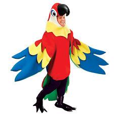 PARROT ADULT DELUXE FANCY DRESS BIRD COSTUME