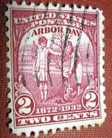 SC​OTT'S #717 2c ARBOR DAY ISSUE 1932 USED STAMP